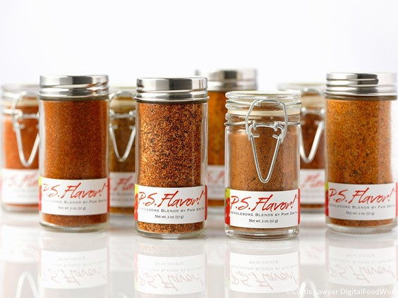 White Background Product Photos with P.S. Flavor! Spice Blends